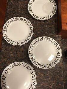Pottery Barn Harry Potter Collection incantation appetizer plates NIB set of 4