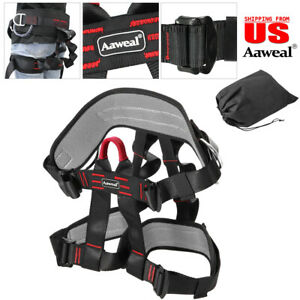 Safety Rock Tree Climbing Rappelling Harness Seat Sitting Bust BeltHalf Body US