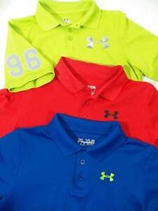 ~Under Armour~ Boys Size Youth Large XL Polo Logo Golf Shirts