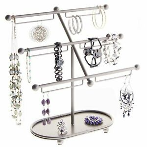 Long Earring Holder Hanging Bracelet Rack Jewelry Organizer Tree Display Stand