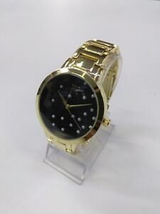 INC women#x27;s 100036143WA Gold Stainless Steel Japan Quartz Watch