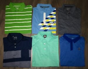 Lot 6 Mens FOOTJOY NIKE Tour Performance ADIDAS UNDER ARMOUR Golf Polo Shirts XL