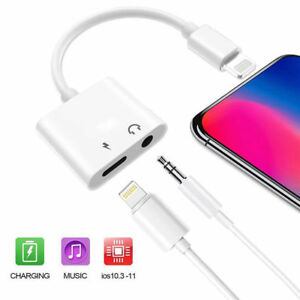 For iPhone X Xs Xs MAX XR 7 8 Plus 3.5mm Aux Audio Charge Adapter Cable Dongle