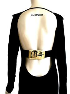 Gucci by Tom Ford Rarest 1996 Backless Black  Finale Dress Archivally Correct 42