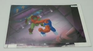Fantastic Four Original Animation Cel amp; Hand Painted Background of The Thing #26 $34.98