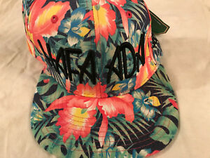 New Hafa Adai Snapback Hat NWT Adjustable Cap Roil Soil Guam Floral Tropical
