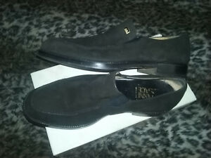 Versace Men's Black Sweade Designer Dress Shoes Once-worn (with box)