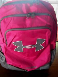 Under Armour Boys Storm Switchup Water Resistant Backpack Fuschia Gray