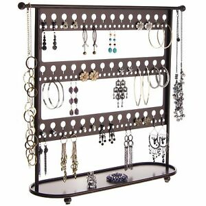 Large Earring Holder Storage Rack Display Necklace Tree Stand Jewelry Organizer