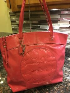 COACH Pink Patent Leather