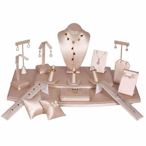 Pink Jewelry Displays Stands - Earring Necklace Ring Bracelet and Watch
