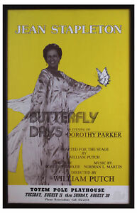 From Jean Stapleton Estate Her Butterfly Days Poster