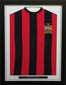 Man City FA Cup Winners '69 Genuine Hand Signed Shirt FRAMED Lee Bell Summerbee