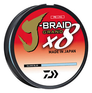 Daiwa J Braid Grand x8 Island Blue Braided Fishing Line w IZANAS Fiber