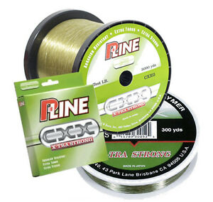 P Line Cxx Moss Green X Tra Strong Fishing Line 600 Yards Select Lb Test