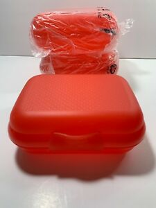 NIP Tupperware Small Packables Oyster Style Containers Set Of 4