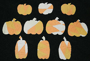 10 PRIMITIVE ANTIQUE CUTTER QUILT PUMPKINS 3 Shapes! FallAutumn Scrapbooking! 6
