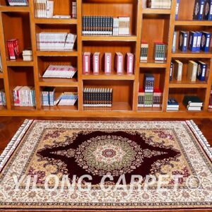 YILONG 5.6'x8.2' Persian Silk HandKnotted Carpet Oriental Durable Area Rug