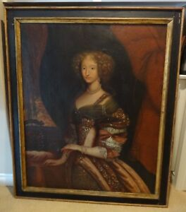 OLD MASTER OIL ON CANVAS PORTRAIT OF QUEENANNE OF FRANCE 1600s PAINTING
