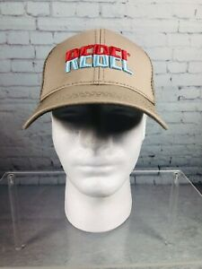 Rebel Fishing Lures Trucker Mesh Strapback Hat Khaki