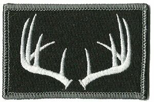 Hook Compatible Fastener Compatible Hunting Wildlife Antlers BLK WHT 3x2quot;