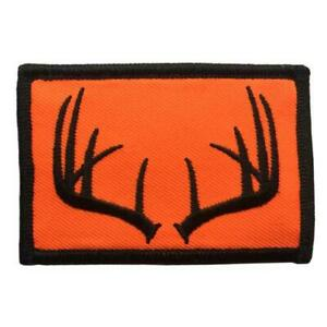 BuckUp Tactical Patch Hook Hunting Wildlife Antlers BLZ ORG 3x2quot;