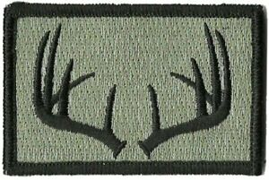 Hook Compatible Fastener Compatible Hunting Wildlife Antlers Foliage 3x2quot;