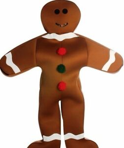 Gingerbread Man Costume Ginger Bread Cookie Christmas Funny Adult Light Weight