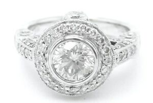 1.80CT ROUND ANTIQUE DESIGNER INSPIRED ENGAGEMENT RING STYLE R44
