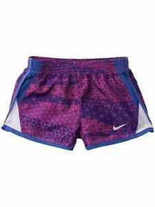 Nike Dry Girls Blue & Pink Dri-fit Running Track Athletic Shorts Fusion Violet
