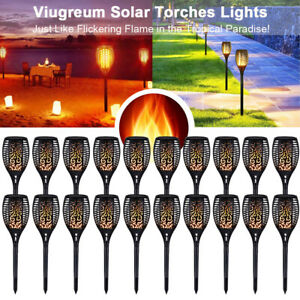 20x LED Solar Path Light Torch Flame Flickering Waterproof Outdoor Park Pathway