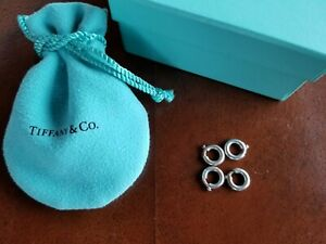 Tiffany & Co. Sterling Silver - 4 Spring Rings for Charm Bracelet Set #1