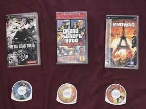 3 PSP Games2 Cases Only LEGO Star Wars 3 The Yellow Avenger Clancy's ENDWAR!