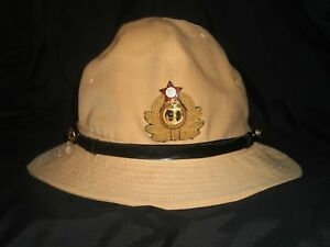 Antique rare 1966 Soviet Russian Tropical Officer Panama Hat Cap USSR 60