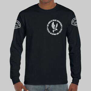 Los Angeles Police LAPD SWAT S.W.A.T. Logo Long Sleeve Black T shirt USA Size $26.50