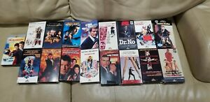 Lot of 17 JAMES BOND 007 VHS Videos with individual case as shown