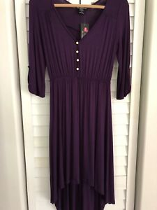 NWT - Ladies Hi Lo Hemline Roll Tab 34 Sleeve Dress - Size: Medium - New