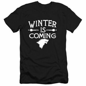 Game of Thrones Winter is Coming Pattern Short Sleeve Men's Cotton T-Shirts Tops