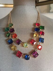 Kate Spade Statement Crystal Kaleidoscope Bib Necklace Great Gift