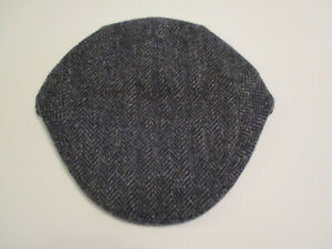 a6efbe8892e1f Orvis Mens Yorkshire Driving Cap gray-black wool size 7½ hand tailored