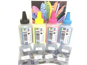 All Inclusive 400g 8 Chips Very High Quality DELL Laser Printer Refill Kit.