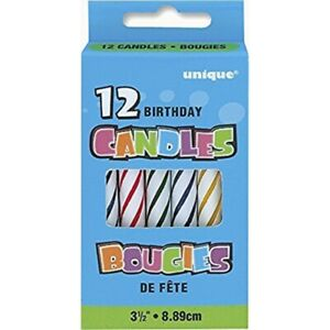 Spiral Multicolor Birthday Candles 12ct