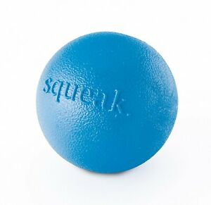 Planet Dog Orbee-Tuff Blue Squeak Ball Toy for Dogs 3 Inch
