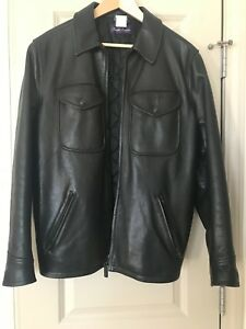 Ralph Lauren Purple Label Lamb Leather Jacket Mens Medium Authentic-Italy