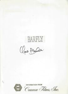 CHARLES BUKOWSKI SIGNED BARFLY PRESSKIT 10 PHOTOS RARE RED BAROQUE BOOKS!