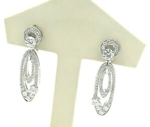Designer BVLGARI 18K White Gold Earrings Ladies Estate Piece Bulgari