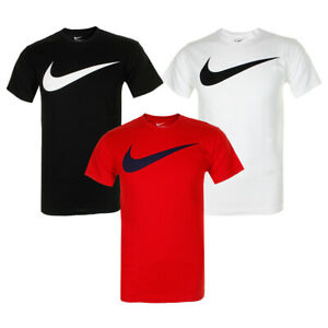 Nike Men's Athletic Wear Short Sleeve Swoosh Graphic Workout Active Gym T Shirt $17.85