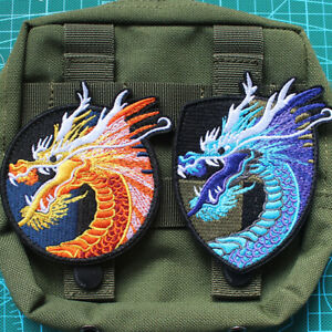 Tactical Dragon Head Military Army Morale Badge Sew On Iron On Embroidery Patch