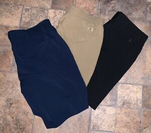 Mens Under Armour 42 Shorts Lot Euc Golf Hat L XL Black Blue Tan Must See Loose