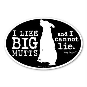 Dog is Good Big Mutts Oval Magnet Dogs